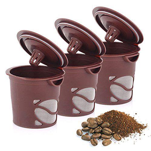 Ezyoutdoor 3 pack Reusable Coffee Tea Filter Cup Set for Keurig, My K-cup style, 3 Filters , Fits B30, B31, B40, B41, B60, B70, K40, K45,…
