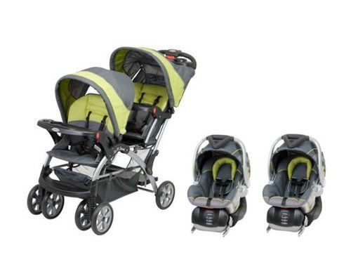 JUST PURCHASED!!!!    Baby Trend Sit N Stand Inline Double Baby Stroller Twin Car Seat Travel System 090014011826 | eBay