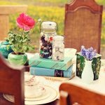 orchard and vintage table scape by Stage Right.