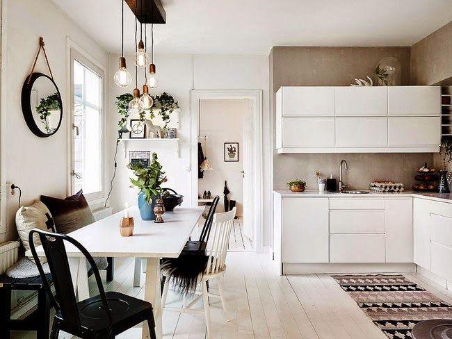 Boho Deco Chic: Consigue un estilo romántico, cálido y acogedor nórdico en blanco y negro