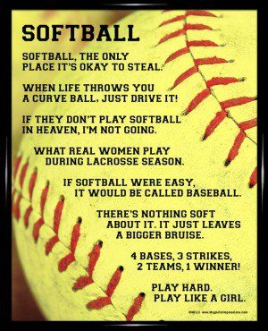 Softball is my favorite sport.