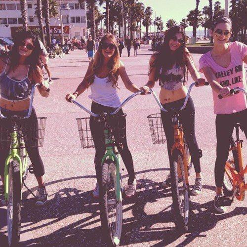 i truely love riding bikes.: Girls, Best Friends, Bike Rides, Style, Bestfriends, Bff, Summer Lovin, Beasts, Beach Cruiser