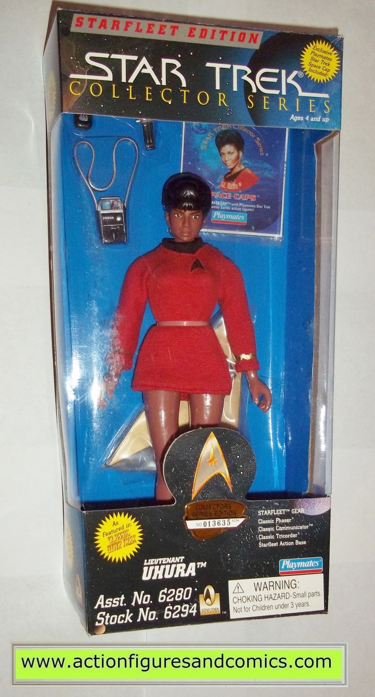 """Playmates Toys STAR TREK original classic series 9 inch collector series action figures for sale to buy 1996 UHURA NEW - still factory sealed in the original package box size: 12"""" x 6"""" x 2.5"""" figure s"""