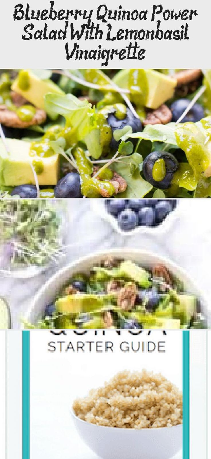 You'll LOVE this healthy Blueberry Quinoa Power Salad recipe! So easy to make and loaded with detoxifying, anti-inflammatory ingredients. #quinoasalad #blueberrysalad #saladrecipes #Carrotsaladrecipes #saladrecipesBroccoli #saladrecipesHealthy #Summersaladrecipes #Warmsaladrecipes