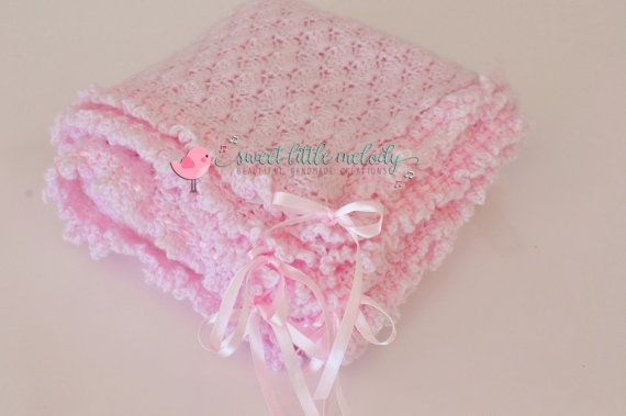 Pink Baby Blanket Baby Ruffle Blanket by SweetLittleMelody on Etsy