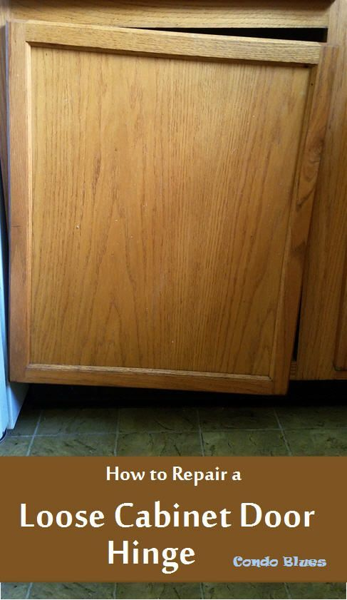 How To Repair A Loose Cabinet Door Hinge Do It Yourself Today