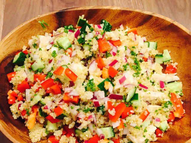 コストコ風!キヌアのチョップドサラダの画像