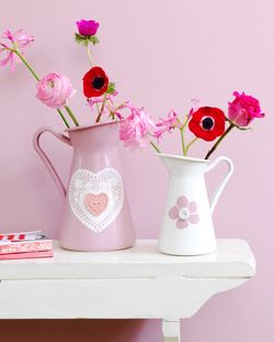 #DIY Vases in pastels - #101woonideeen.nl - Dutch interior and crafts magazine