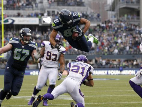 Seattle Seahawks and Minnesota Vikings NFL: Golden Tate by Elaine Thompson. Photographic Print from AllPosters.com, $29.99