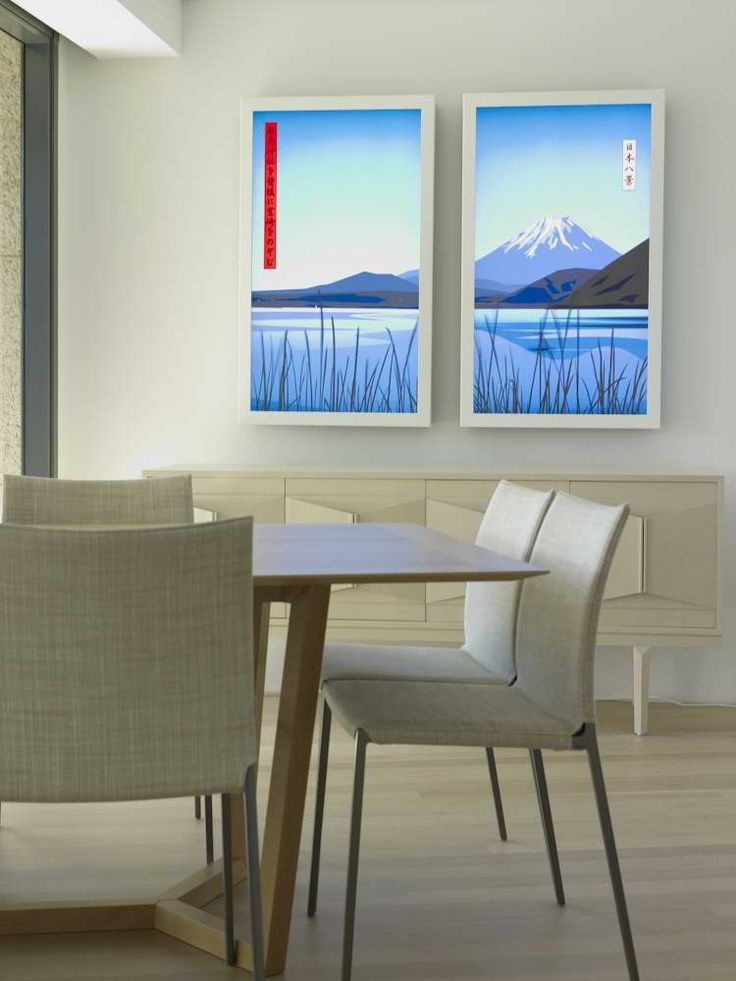 Dining Room with Julian Opie artwork