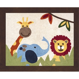 @Overstock - Add the finishing touch to your child's room with the Jungle Time area rug by Sweet Jojo Designs. Hand tufted out of cotton yarn, this accent rug features a non skid backing and coordinates with its crib bedding set.http://www.overstock.com/Baby/Sweet-JoJo-Designs-Jungle-Time-Cotton-Floor-Rug/7601705/product.html?CID=214117 $39.99