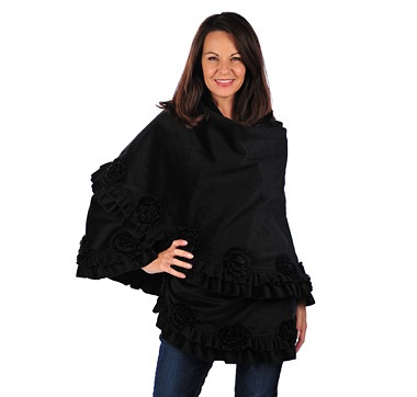 Drape the casual elegance of this cashmere like ruffle wrap over your shoulders for a truly spectacular result. #ilovetoshop