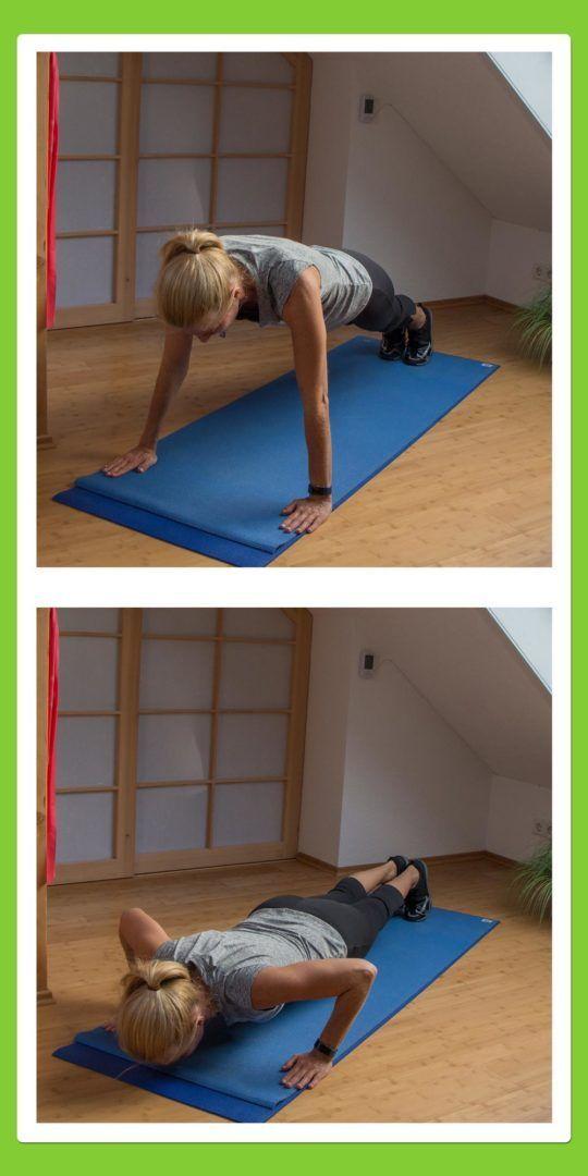 Rücken Übungen gegen Rückenschmerzen für den Rücken: Liegestütze