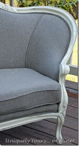 Vintage settee reupholstering