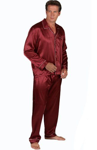 Mens Red Satin Pajamas