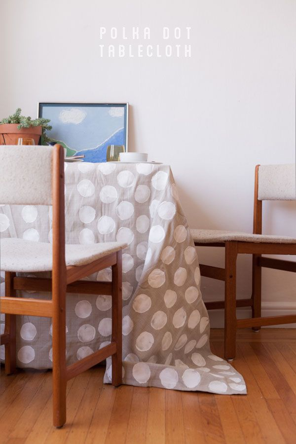 Polka Dot Tablecloth DIY | Oh Happy Day!