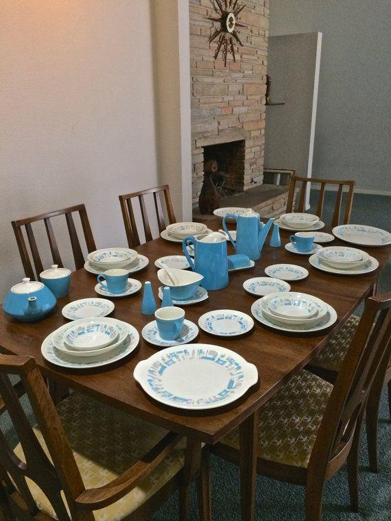 blue heaven mid century modern dinnerware set - Modern Dinnerware