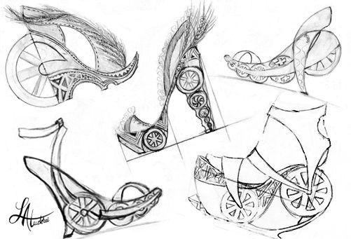 Shoes sketches by Lacramioara Atudorei