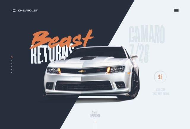Chevrolet Camaro Website