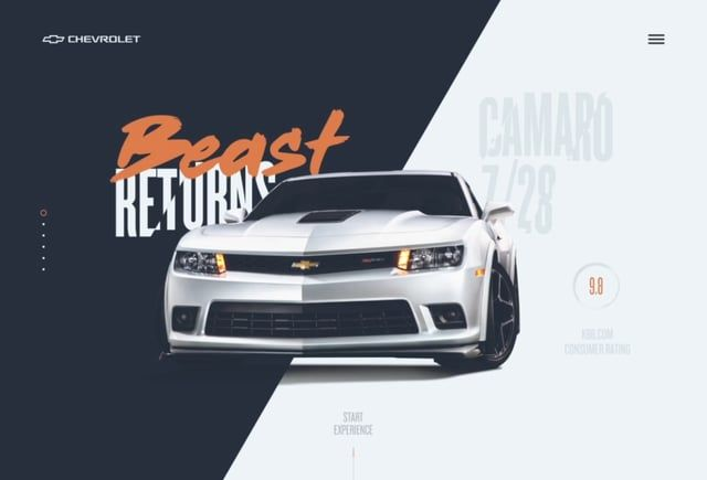 Chevrolet Camaro Website
