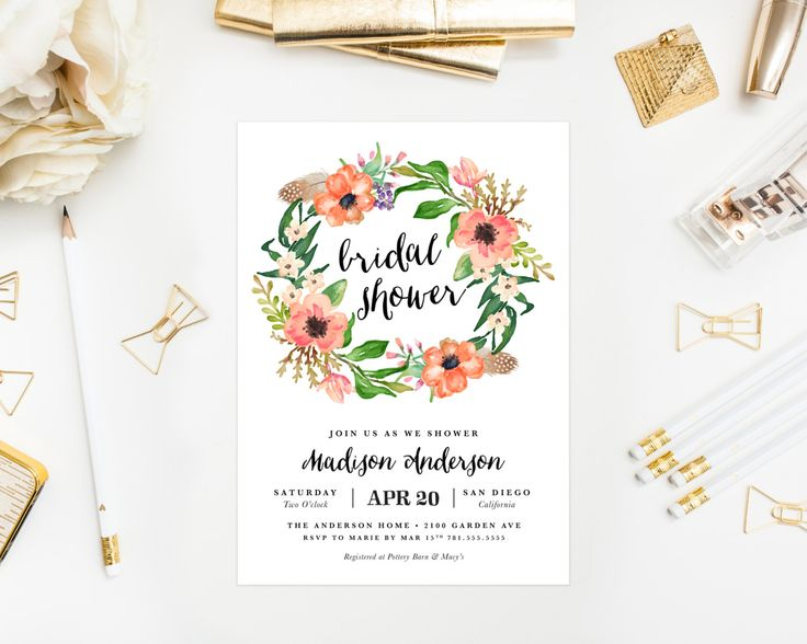 Summer Wedding Lunch Ideas : Best ideas about bridal shower wreaths on