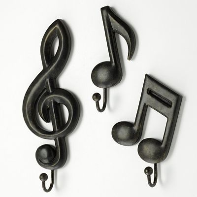 3-pc. Musical Note Wall Hook Set kohl's. Savannahs big girl room