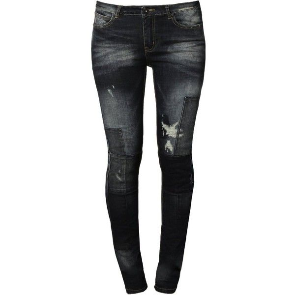 Liebeskind Slim fit jeans blue ($120) ❤ liked on Polyvore featuring jeans, blue denim, slim leg jeans, slim fit jeans, slim jeans, side pocket jeans and blue jeans