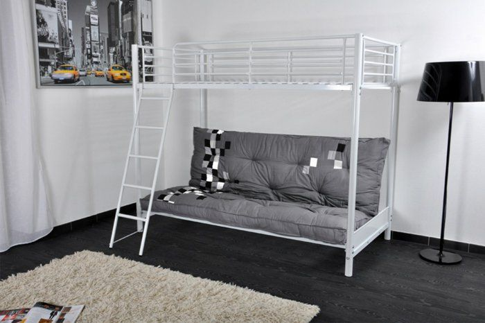 1000 id es sur le th me lits superposes d 39 enfants sur pinterest lit d - Ikea lit superpose blanc ...