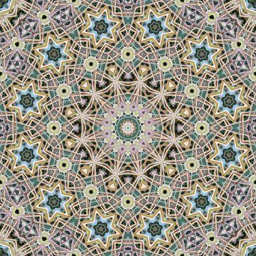12-sided green geometric pattern
