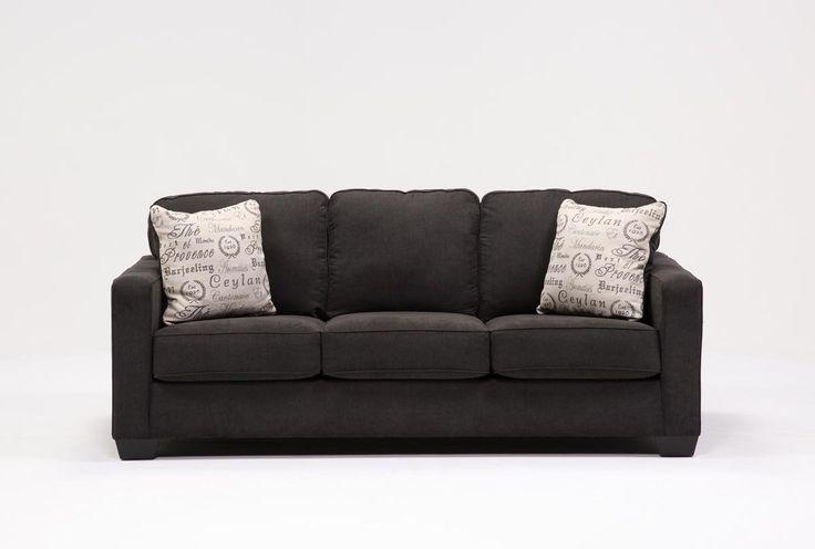 Alenya Charcoal Queen Sofa Sleeper - 360