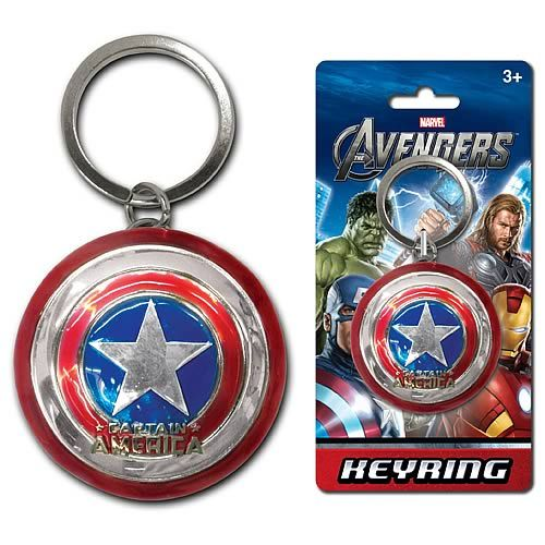 Captain America Shield Pewter Key Chain