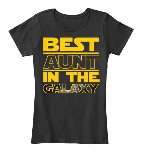Best Aunt Shirt  Black Women's T-Shirt Front