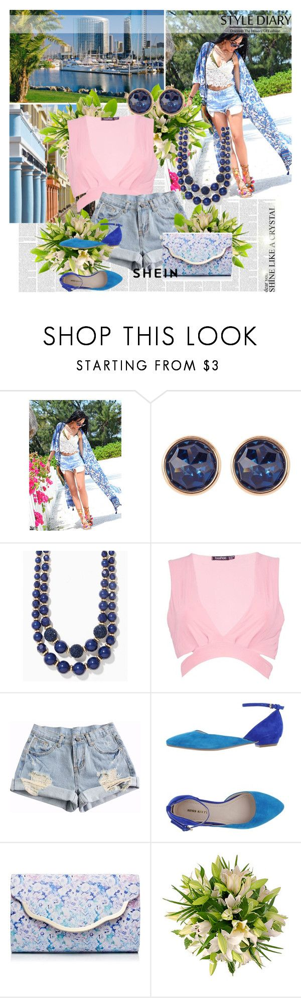 """""""sheinside"""" by jelena-si ❤ liked on Polyvore featuring Susan Caplan Vintage, Boohoo, Miss Sixty and Forever New"""