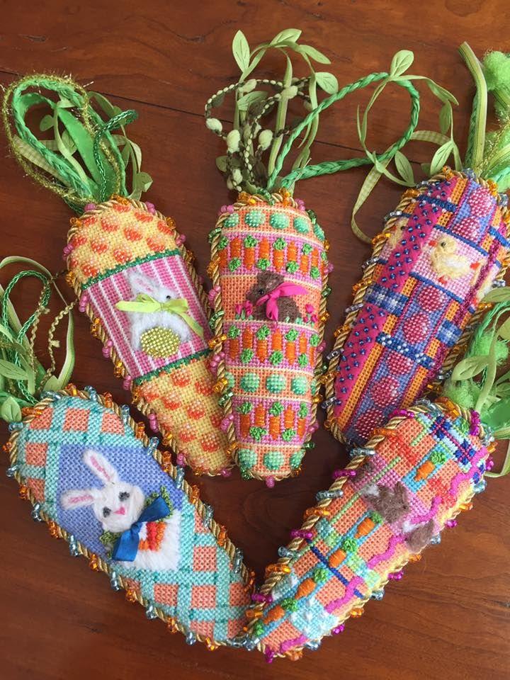 associated talents needlepoint carrots