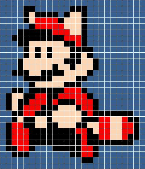 damn it Janet, let's crochet!: Granny Square Raccoon Mario blanket