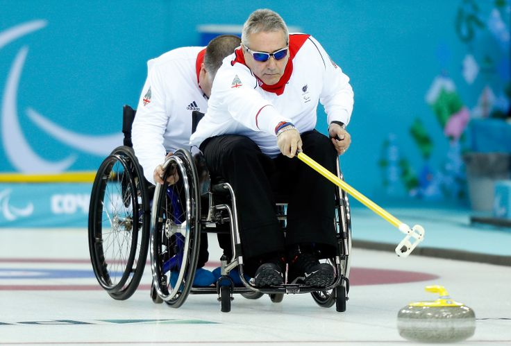 GBR v SWE Wheelchair Curling on Day 2 of the Sochi 2014 Paralympic Winter Games #GoParalympicsGB
