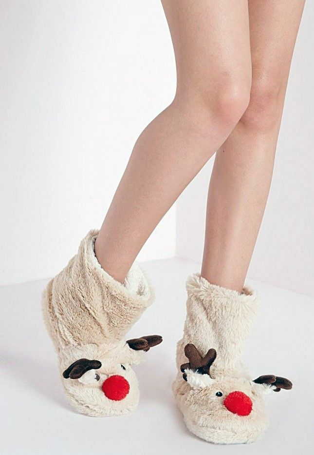 These reindeer slipper boots are holiday must-haves.