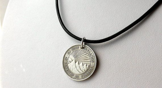 Nicaragua Coin necklace Vintage necklace Coin by CoinStories