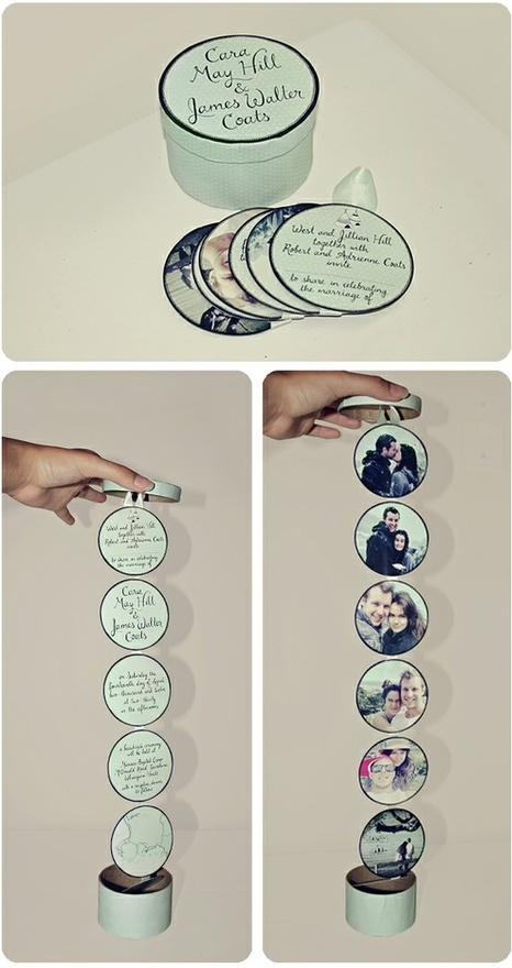 Little tin with circles attached. Could be a nice Mother's Day gift... lots of uses! Photos mod-podge.