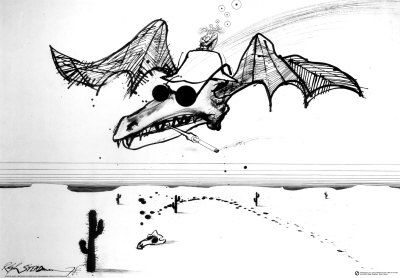 """""""Spirit of Gonzo"""" by Ralph Steadman. Poster to be ordered for new office decorating."""