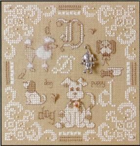 D is For Dog - Teenie Cross Stitch Kit