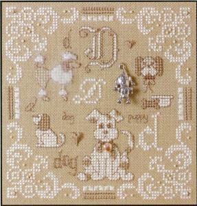 D is For Dog - Teenie Cross Stitch Kit