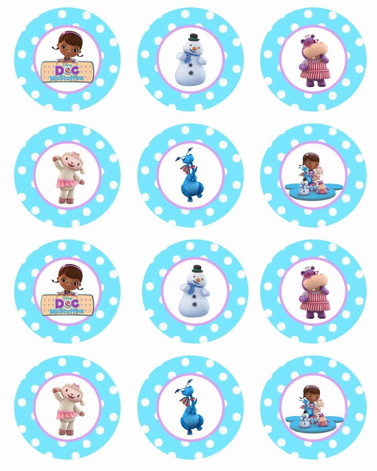 doc mcstuffins cupcake toppers | To download these FREE Doc McStuffins cupcake toppers, click HERE !