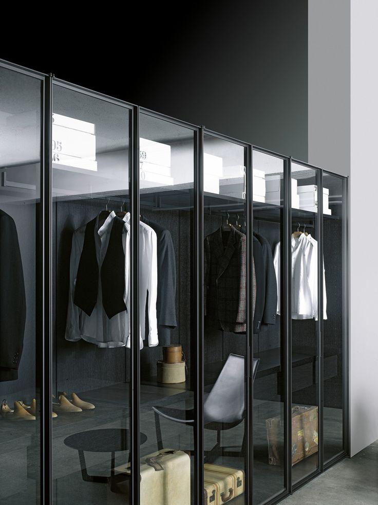 ♂ contemporary interior design modern masculine Walk-in #wardrobe STORAGE by Porro | #design Piero Lissoni, Centro Ricerche Porro