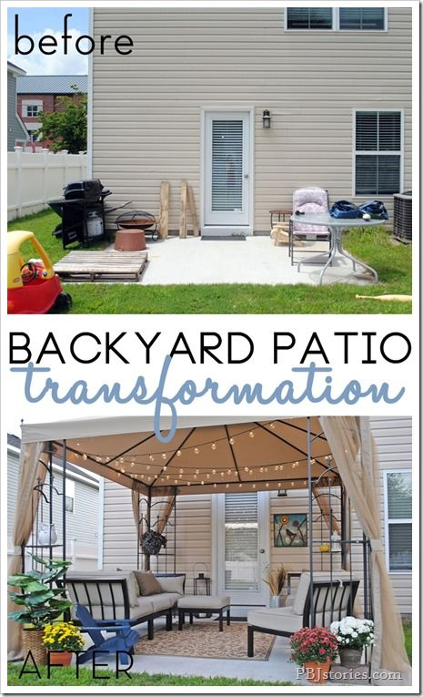 Before and After Backyard Yard Makeover on PBJstories