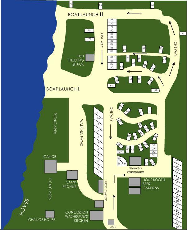 Map of Lucien Lake Regional Park #lucienlake #saskparks #regionalparks #sasklakefront #sasklakes