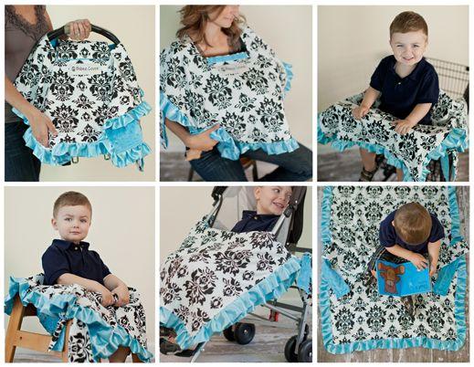 Babee Covee 6 In 1 Baby Blanket Cover Infant Car Seat Cart Nursing Playmat Stroller