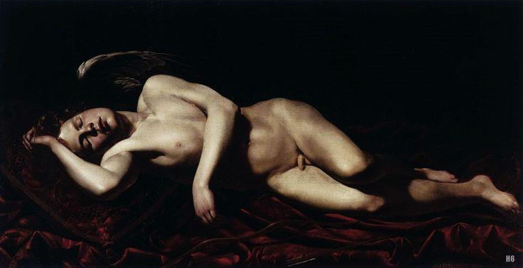 Sleeping Cupid. 1618-22. Giovanni Battista Caracciolo. Italian 1578-1635.