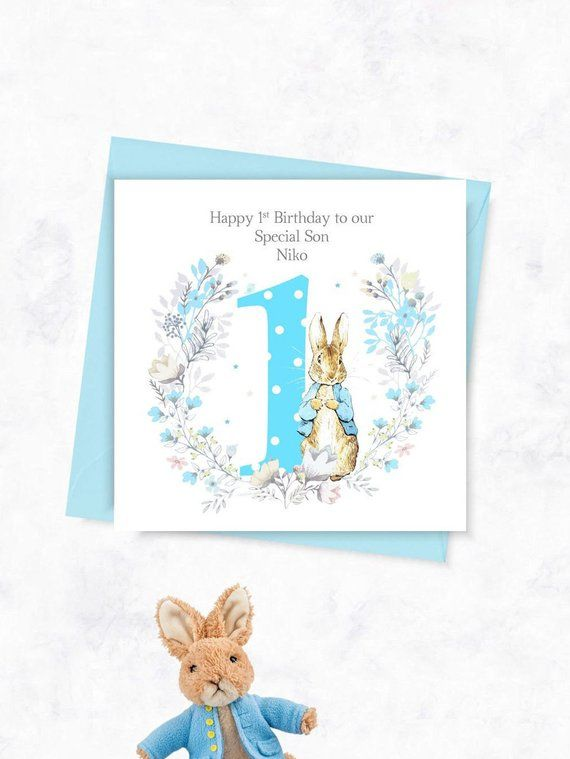 Personalised 1st Birthday Card Peter Rabbit Card 2nd Birthday Card