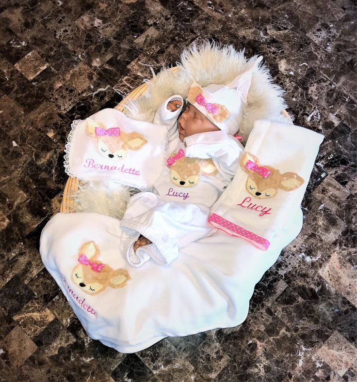 Personalized Baby Girl Gift Set,Pick from Baby blanket ...